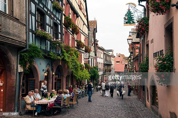 Rue General de Gaul with half-timbered houses