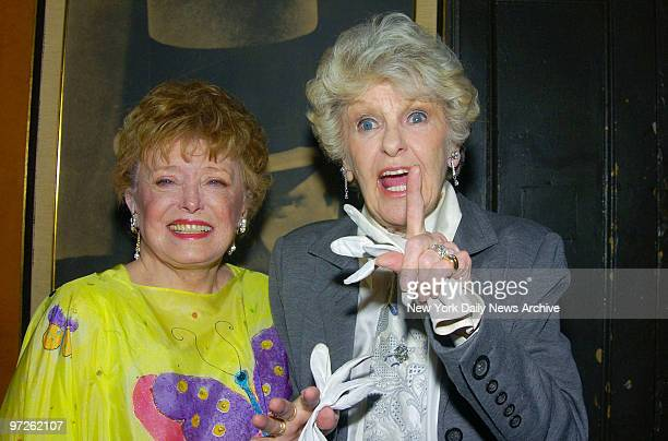 Rue McClanahan and Elaine Stritch are at Webster Hall for the 20042005 Obie Awards for OffBroadway theater They were presenters at the event