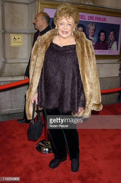 Rue McClanahan during Steel Magnolias Opening Night on Broadway Outside Arrivals at The Lyceum Theatre in New York City New York United States