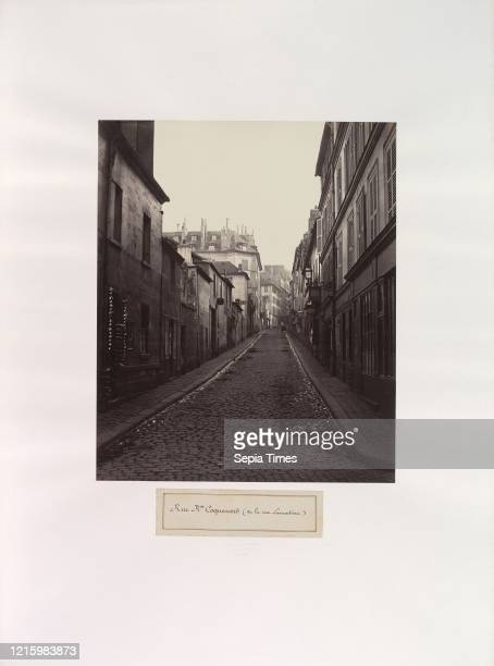 Rue Neuve-Coquenard . 1870s. Albumen silver print. 32.6 x 27 cm . Photographs. Charles Marville . Trained as a painter and an illustrator. Marville...