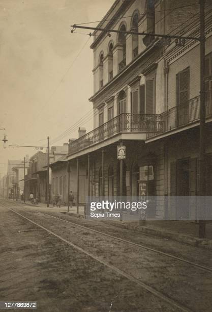 Rue Royale; Attributed to H.M. Beach ; New Orleans, Louisiana, United States; 1899; Gelatin silver print; 15.7 × 10.8 cm .