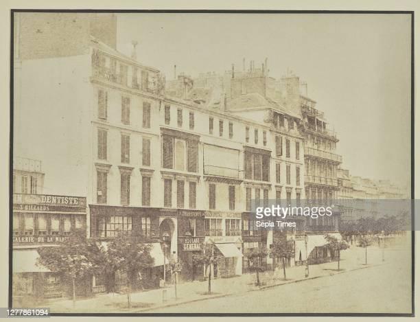 Rue Royale, Paris; Hippolyte Bayard ; about 1840–1849; Salted paper print; 17.3 × 23.1 cm .