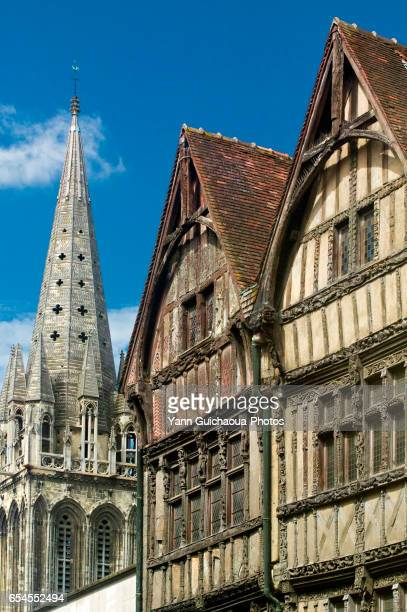 rue saint pierre , caen, calvados, france - calvados stock pictures, royalty-free photos & images