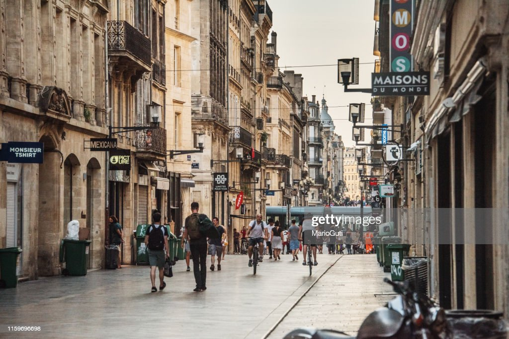 Rue Saintecatherine In Bordeaux France High-Res Stock Photo ...