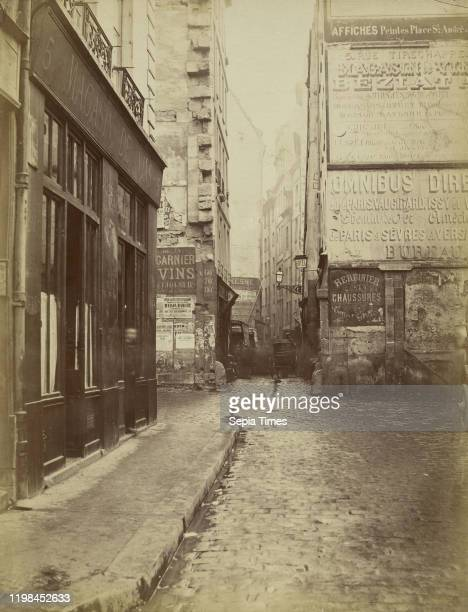 Rue Tirechappe Charles Marville Paris France 1860 1870 printed later Albumen silver print