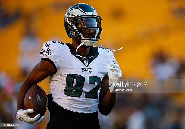 Rueben Randle of the Philadelphia Eagles in action during the game against the Pittsburgh Steelers on August 18 2016 at Heinz Field in Pittsburgh...