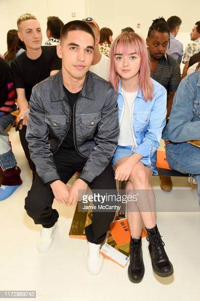 Rueben Selby and Maisie Williams attend the Helmut Lang front row during New York Fashion Week: The Shows on September 07, 2019 in New York City.