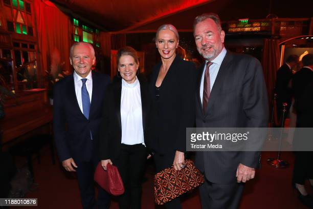 Ruediger Grube Cornelia Poletto Petra van Bremen and her husband Michael Kubenz at the Polettos Palazzo at Spiegelpalast on November 15 2019 in...
