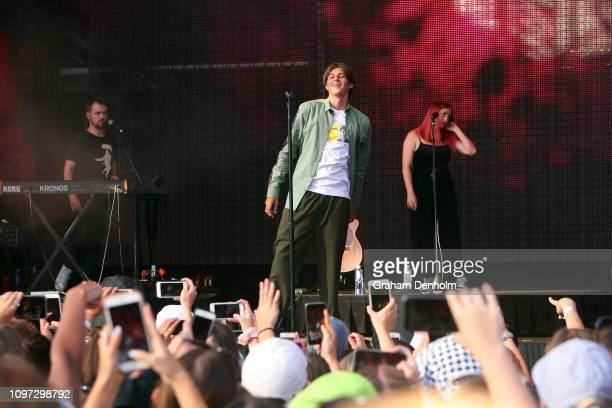 Ruel performs on the AO Live Stage during day eight of the 2019 Australian Open at Melbourne Park on January 21, 2019 in Melbourne, Australia.