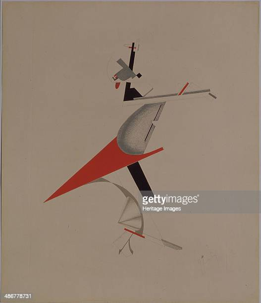 Ruffian Figurine for the opera Victory over the sun by A Kruchenykh 19201921 Artist Lissitzky El