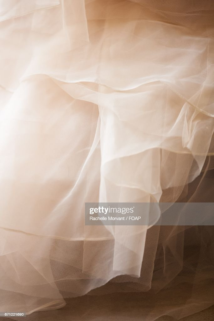 Ruffled tulle of a dress : ストックフォト
