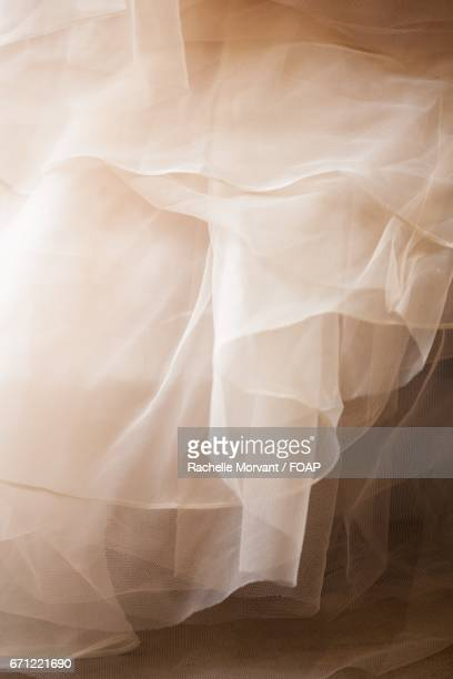 ruffled tulle of a dress - tulle netting stock pictures, royalty-free photos & images