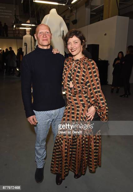 Rufus Abbott and Camilla Rutherford attend the WHITE cocktail party hosted by Italian Trade Agency at Ambika on November 23 2017 in London England