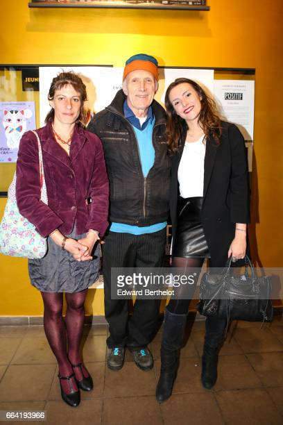 Rufus and his daughters Zoe and Rosalie attend the 'Au Long De La Riviere Fango' Paris Premiere At Le Luminor on April 3 2017 in Paris France