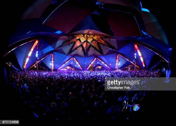 Rufus Du Sol performs at the Do LaB during day 3 of the 2017 Coachella Valley Music Arts Festival at the Empire Polo Club on April 23 2017 in Indio...