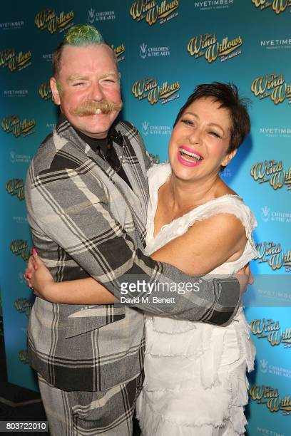 Rufus Hound and Denise Welch attend the press night after party for 'The Wind In The Willows' at 8 Northumberland Avenue on June 29 2017 in London...