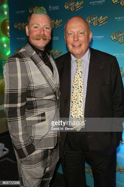 Rufus Hound and Julian Fellows attend the press night after party for 'The Wind In The Willows' at 8 Northumberland Avenue on June 29 2017 in London...