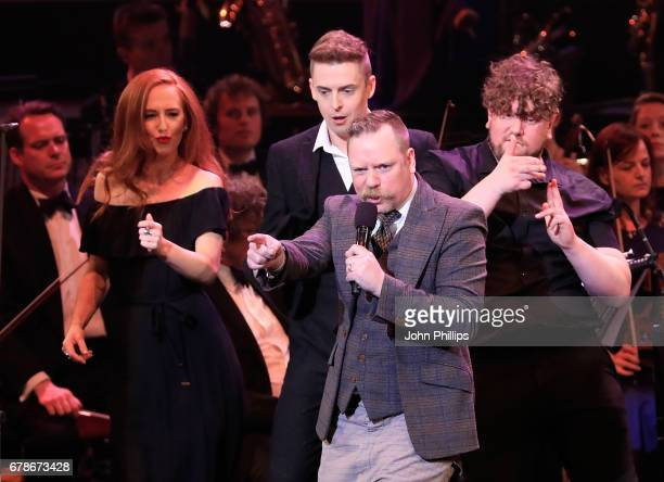 Rufus Hound performs excerpts from 'The Wind in The Willows' on stage as part of 'Magic at the Musicals' at The Royal Albert Hall on May 4 2017 in...