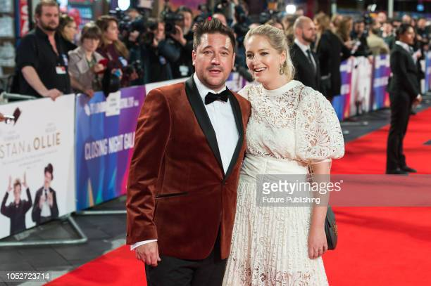 Rufus Jones and Philippa Allam attend the World Premiere of 'Stan & Ollie' at Cineworld, Leicester Square, during the 62nd London Film Festival...
