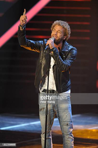 Rufus Martin performs on stage during 'The X Factor Live' TVShow on October 25 2011 in Cologne Germany