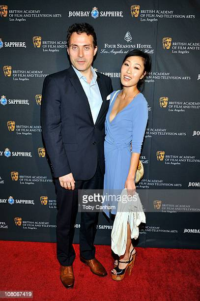Rufus Sewell and Amy arrive for the BAFTA Los Angeles 17th annual awards season tea party held at the Four Seasons Hotel on January 15 2011 in Los...