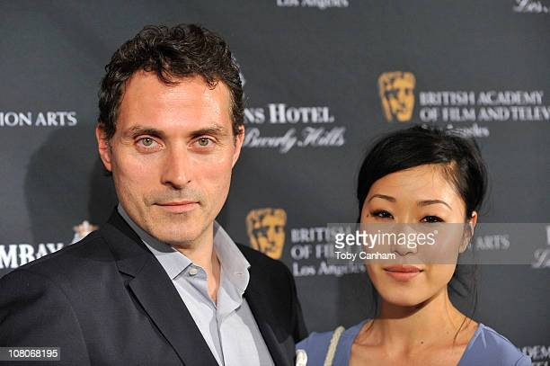 Rufus Sewell and Amy arrives for the BAFTA Los Angeles 17th annual awards season tea party held at the Four seasons hotel on January 15 2011 in Los...