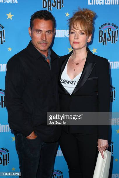Rufus Sewell and Chelah Horsdal arrive at the Entertainment Weekly ComicCon Celebration at Float at Hard Rock Hotel San Diego on July 20 2019 in San...