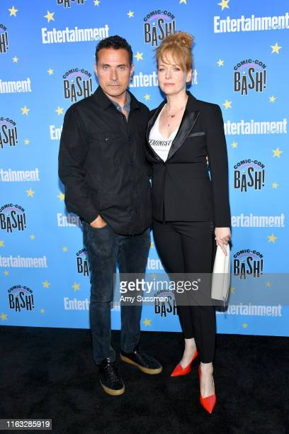 Rufus Sewell and Chelah Horsdal attend Entertainment Weekly's ComicCon Bash held at FLOAT Hard Rock Hotel San Diego on July 20 2019 in San Diego...