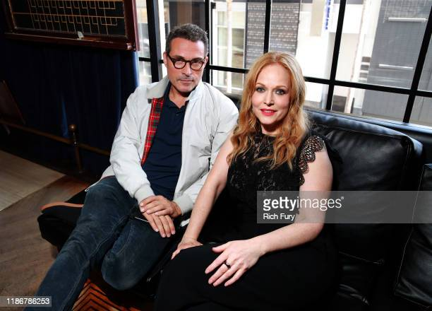 Rufus Sewell and Chelah Horsdal in the Heineken Green Room at Vulture Festival Presented By ATT at The Roosevelt Hotel on November 10 2019 in...