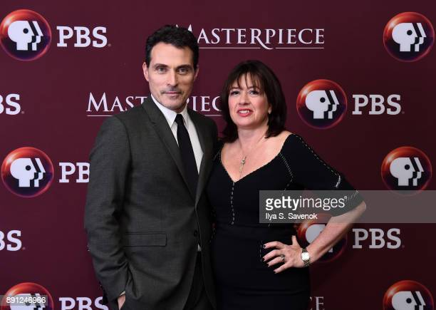 Rufus Sewell and Daisy Goodwin attend 'Victoria' Season 2 Premiere on Masterpiece on PBS on December 12 2017 in New York City