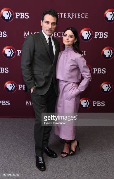 Rufus Sewell and Jenna Coleman attend 'Victoria' Season 2 Premiere on Masterpiece on PBS on December 12 2017 in New York City