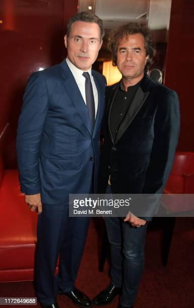 Rufus Sewell and Rupert Goold attend the Judy European Premiere after party at JW Marriott Grosvenor House London supported by PerrierJouet Champagne...