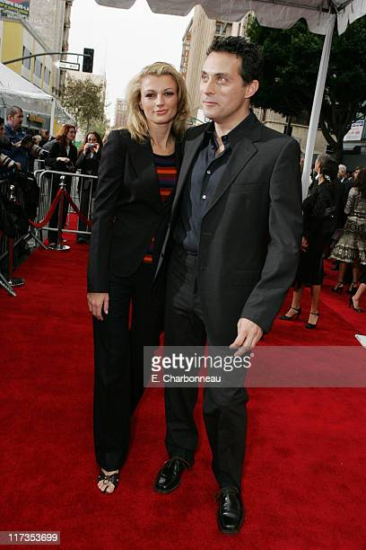 Rufus Sewell and wife Amy Sewell during Columbia Pictures' 'The Legend of Zorro' Los Angeles Premiere at Orpheum Theater in Los Angeles California...