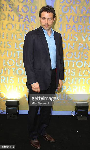 Rufus Sewell arrives at the Louis Vuitton Richard Prince Dinner on June 24 2008 in London England