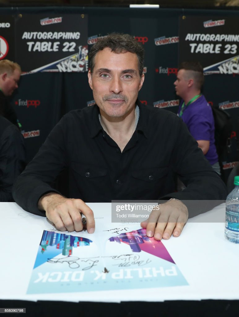 Rufus Sewell attends 'The World of Philip K. Dick' - The Man in the High Castle and Philip K. Dick's Electric Dreams Autograph Signing at The Jacob K. Javits Convention Center on October 6, 2017 in New York City.