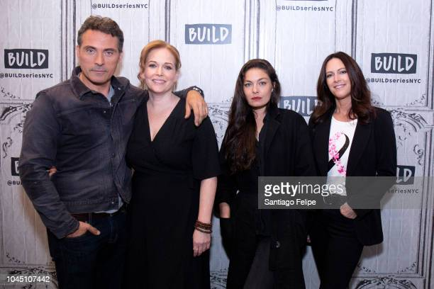Rufus Sewell Chelah Horsdal Alexa Davalos and Isa Hackett visit Build Studio on October 3 2018 in New York City