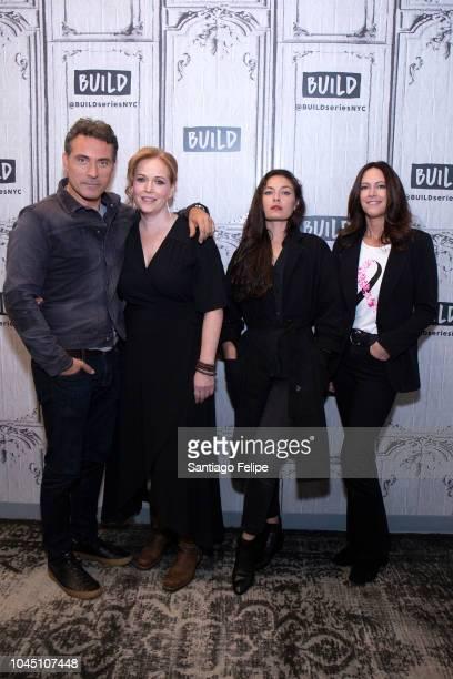 Rufus Sewell Chelah Horsdal Alexa Davalos and Isa Hackett visit Build Studio on October 3 2018 in New York City