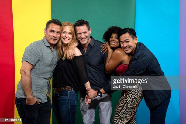 Rufus Sewell Chelah Horsdal Jason O'Mara Frances Turner and Joel de la Fuente of 'The Man in the High Castle' are photographed for Los Angeles Times...