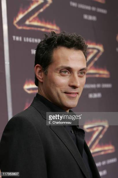 Rufus Sewell during Columbia Pictures' 'The Legend of Zorro' Los Angeles Premiere at Orpheum Theater in Los Angeles California United States
