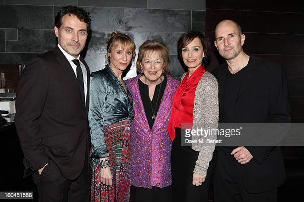 Rufus Sewell Lia Williams Lady Antonia Fraser Kristin Scott Thomas and director Ian Rickson attend an after party following the press night...