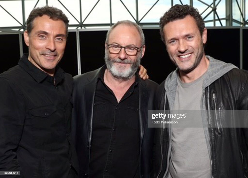 Rufus Sewell, Liam Cunningham and Jason O'Mara attend 'The World of Philip K. Dick' - The Man in the High Castle and Philip K. Dick's Electric Dreams Press Room at The Jacob K. Javits Convention Center on October 6, 2017 in New York City.