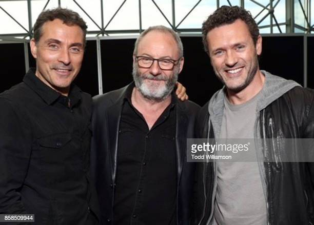 Rufus Sewell Liam Cunningham and Jason O'Mara attend 'The World of Philip K Dick' The Man in the High Castle and Philip K Dick's Electric Dreams...