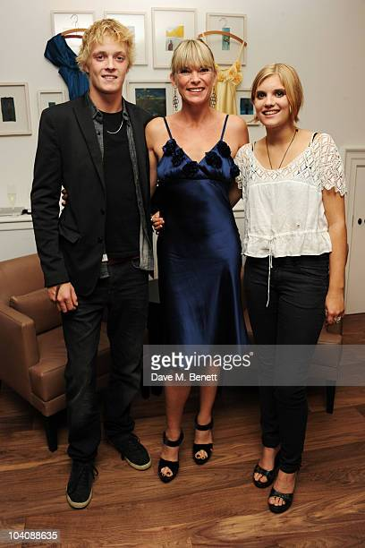 Rufus Taylor Deborah Leng and Tiger Lily Taylor attend the Fab Couture party at Mortons on Septmber 14 2010 in London England