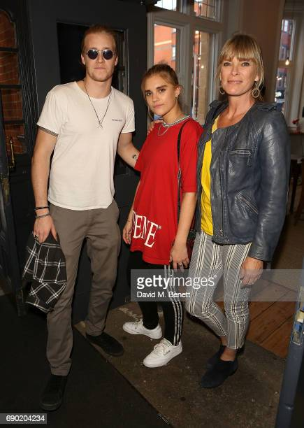 Rufus Tiger Taylor Tiger Lilly Taylor and Debbie Leng attend a play reading of Building The Wall by Robert Schenkkan presented by Platform Presents...