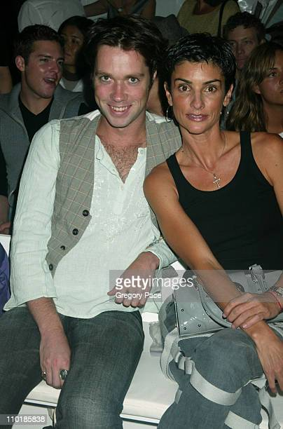 Rufus Wainwright and Ingrid Casares during MercedesBenz Fashion Week Spring 2004 Jennifer Nicholson Front Row and Backstage at Bryant Park in New...