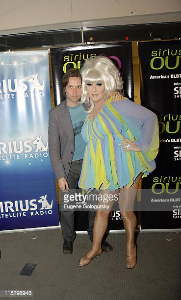 Rufus Wainwright and Lady Bunny during 3rd Anniversary Celebration for SIRIUS OUTQ - May 11, 2006 at SIRIUS Satellite Radio studios in New York City,...