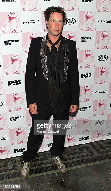 """Rufus Wainwright attends the opening night of """"Anna Nicole The Opera"""" at Howard Gilman Opera House, BAM on September 17, 2013 in New York City."""