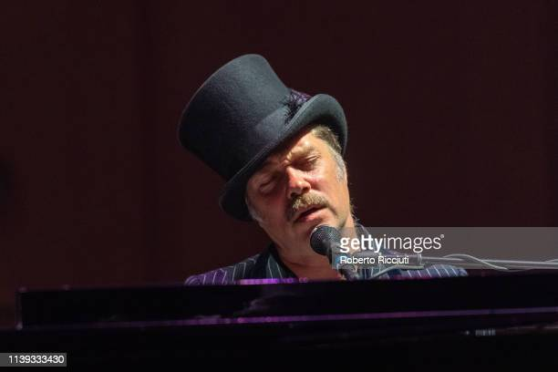 Rufus Wainwright performs on stage at Glasgow Royal Concert Hall on April 25 2019 in Glasgow Scotland