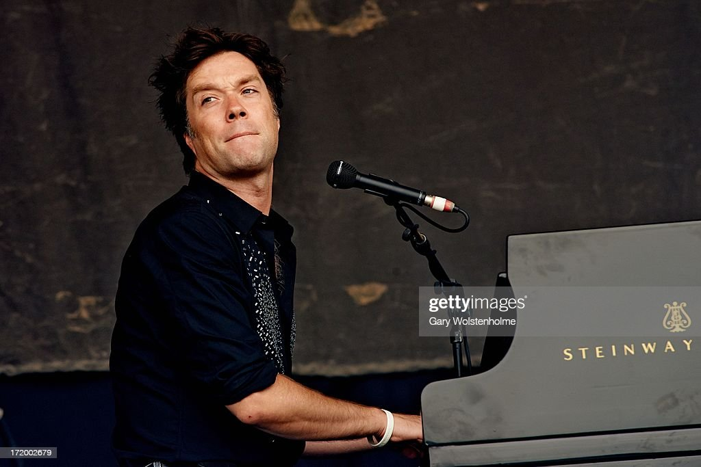 Rufus Wainwright performs on stage on Day 4 of Glastonbury Festival at Worthy Farm on June 30, 2013 in Glastonbury, England.