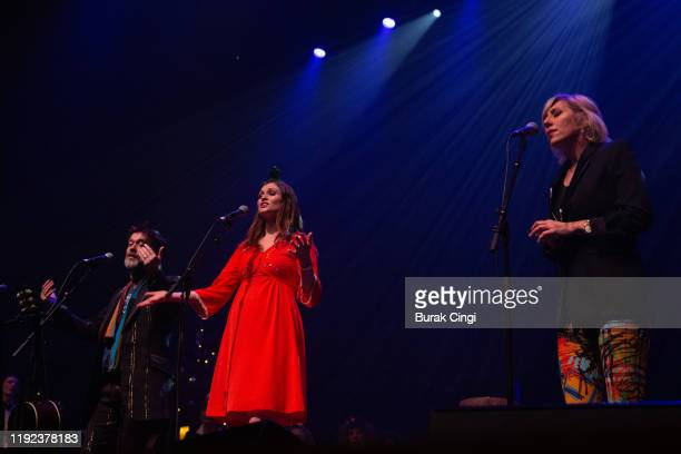 Rufus Wainwright Sophie EllisBextor and Martha Wainwright perform at Rufus and Martha Wainwright's Not So Silent Night event at The Royal Festival...